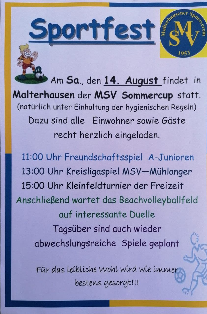 Sportfest 14.08.2021