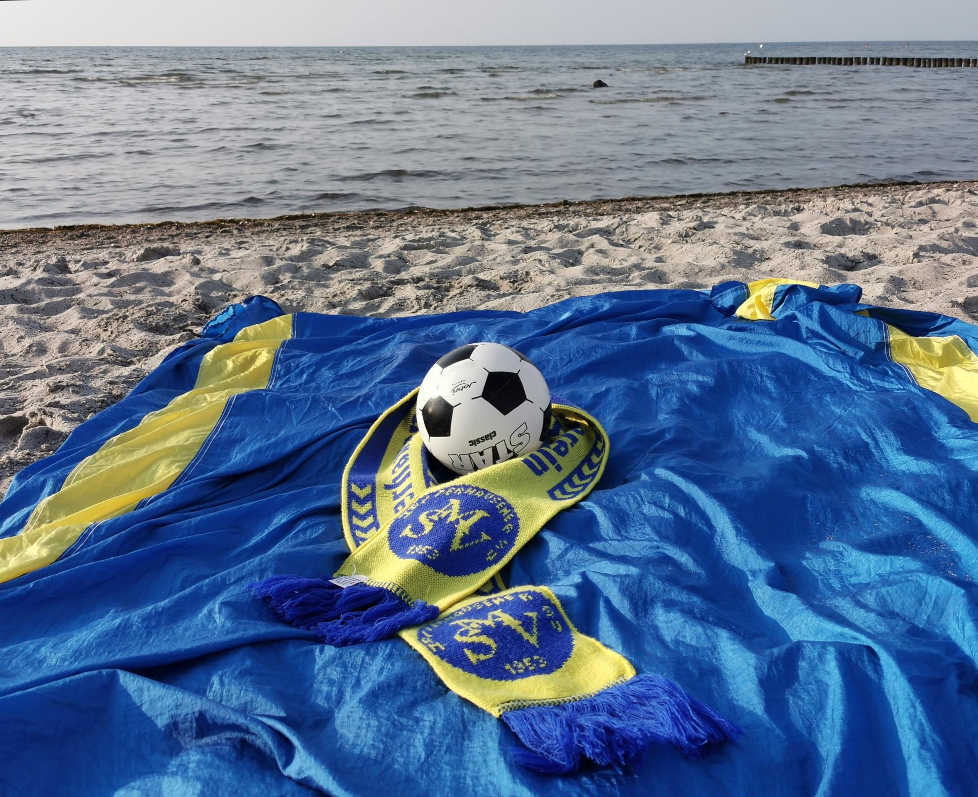 Die Farben des MSV an der Küste der schönen Ostsee